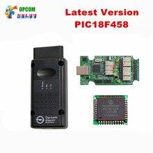 Lo nuevo V1.70 OP-COM obd2 OPCOM con PIC18F458 chip de op-el auto escáner del bus can OBDII herramienta de diagnóstico de op com Envío gratis