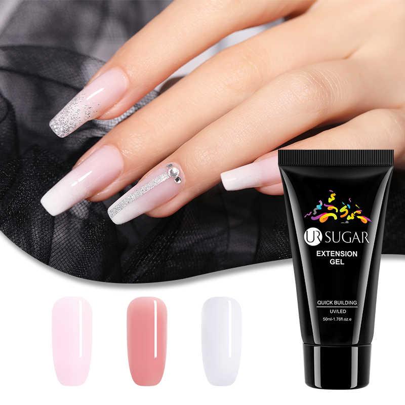 Ur Suiker 50 Ml Quick Extension Gel Roze Clear Uv Led Gebouw Gel Nail Tips Enhancement Anti Oplossing Vinger Verlengen nail Builder