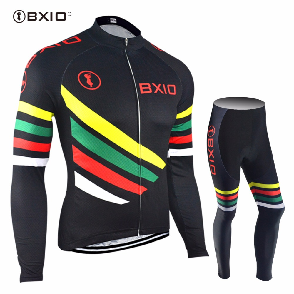 2017 New Arrival BXIO  Ropa Ciclismo Hombre Cycling Jersey Long Sleeve Bicycling Jerseys Pro Team Bike Clothes 108 live team cycling jerseys suit a001