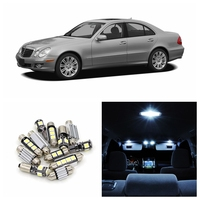 17pcs Canbus White Car LED Light Bulbs Interior Package Kit For 2002 2007 Mercedes Benz E