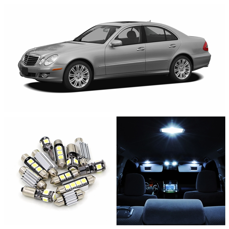 17pcs canbus white car led light bulbs interior package for Mercedes benz upholstery kits