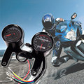 Cool Universal Motorcycle Odometer Tachometer Speedometer Gauge With Bracket Kit