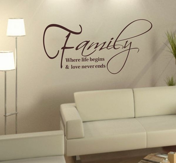Mix Wholesale Order Family Life Love Removable Vinyl Wall Art Words ...
