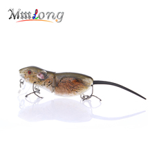 Mmlong 2.5″ Rat Fishing Lure Realistic Mouse Crankbait Vivid 3D Eyes Swim Bait 10.3g Lifelike Fishing Wobbler Tackle Rat4-M