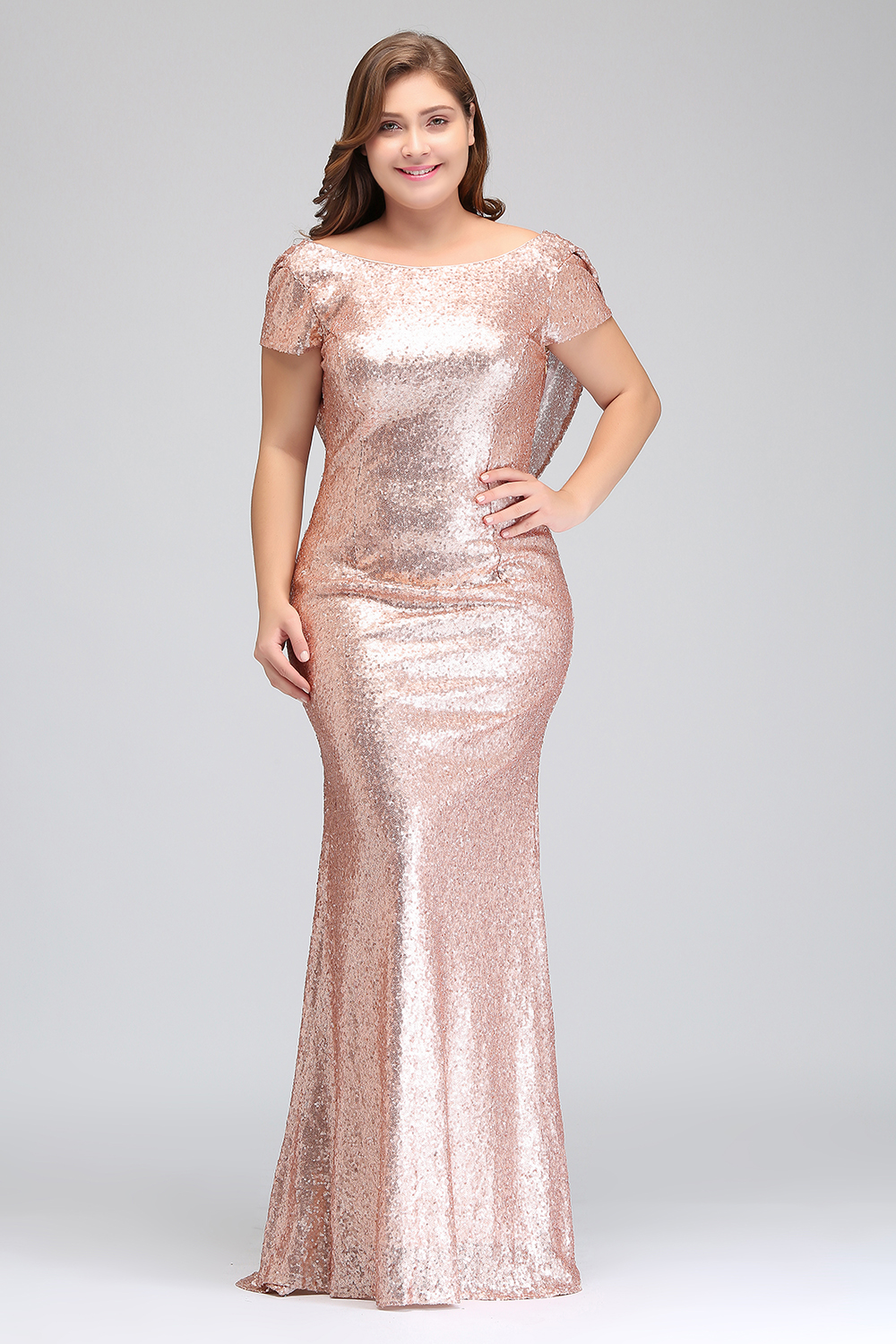 0891b0400706d US $62.99 37% OFF|Plus size Evening Dress Long Sparkling 2019 New Women  Elegant Sequin Mermaid Maxi Evening Party Gown Celebrity Formal Dress-in ...
