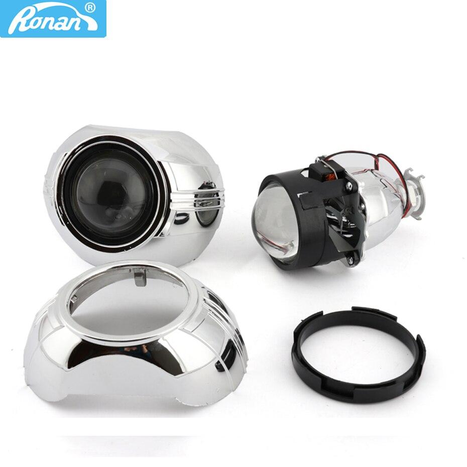 """RONAN 2.5 """"Bi xenon HID H1 projecteur de lentille de phare 7.1 8.1 8.0 SMAX carénages de voiture style pour la rénovation de voiture"""