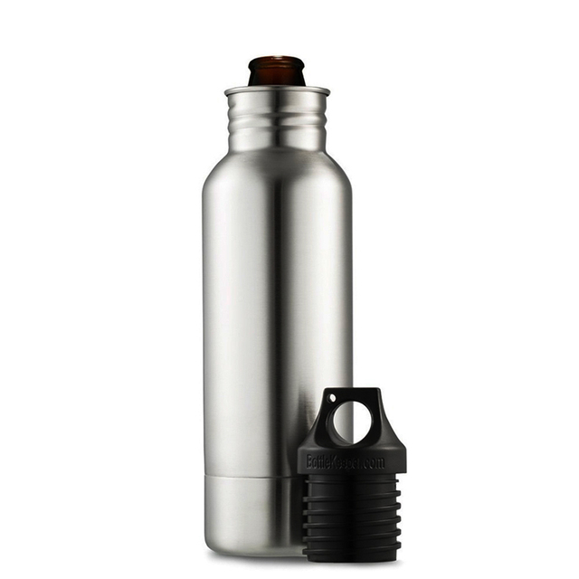 BIUBIUTUA 304 Stainless Steel Beer Insulator Cup Cold Keeper Holder with Metal Bottle Opener Cold Beer Holder Bottle 1