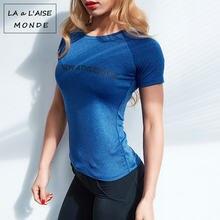 Женские топы для тренировок рубашка фитнеса и спортзала спортивная