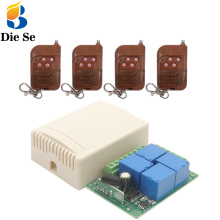 433 MHz Universal rf Remote Control Switch DC 12V 10A 4CH rf Relay Receiver and Transmitter for Garage door and gate Control miti gate door opener operator dc 12v 10a remote control relay output switch automatic sliding doors remote coontrol sku 5470