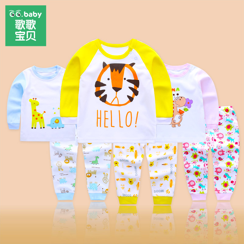Children's Clothing Set Pajamas Sets Kids Girls Tshirt Pants Newborn Baby Boys Clothes Set Cotton Roupa Bebes Boy Suits Outfit baby girl clothing syriped short sleeve tshirt pant headband 2pcs set summer baby girls clothes set roupa de bebe