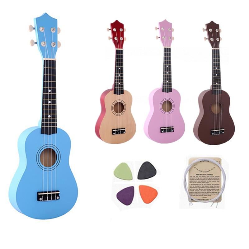 21 بوصة إيرين أربعة ألوان القيثارة مبتدئين الأطفال هدايا عيد الميلاد هاواي أربعة سلسلة الغيتار + سلسلة + اختيار