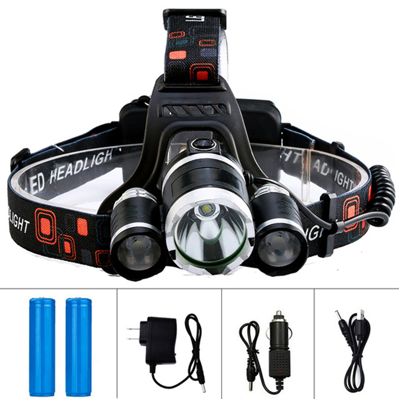 <font><b>10000LM</b></font> Led T6 Headlamp Headlight Waterproof Head Torch Flashlight Head Lamp Fishing Hunting Camping18650 Battery Lamp Light image