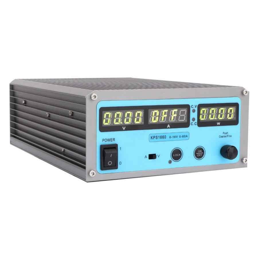 KPS1660 regulowany Dc regulowany zasilacz stabilizowany przełącznik programów czterocyfrowy wyświetlacz 110-220 V