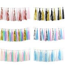 1 Juego de guirnalda de borla de papel de seda mezclado para boda niños unicornio cumpleaños fiesta decoraciones Baby Shower favores suministros