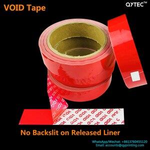 Image 5 - 1 rollo de cinta adhesiva de 25mm x 30m, cinta de embalaje abierta vacía, azul, rojo, etiqueta a prueba de manipulaciones, garantía de seguridad, sello del vacío, paquete de pegatinas, cintas