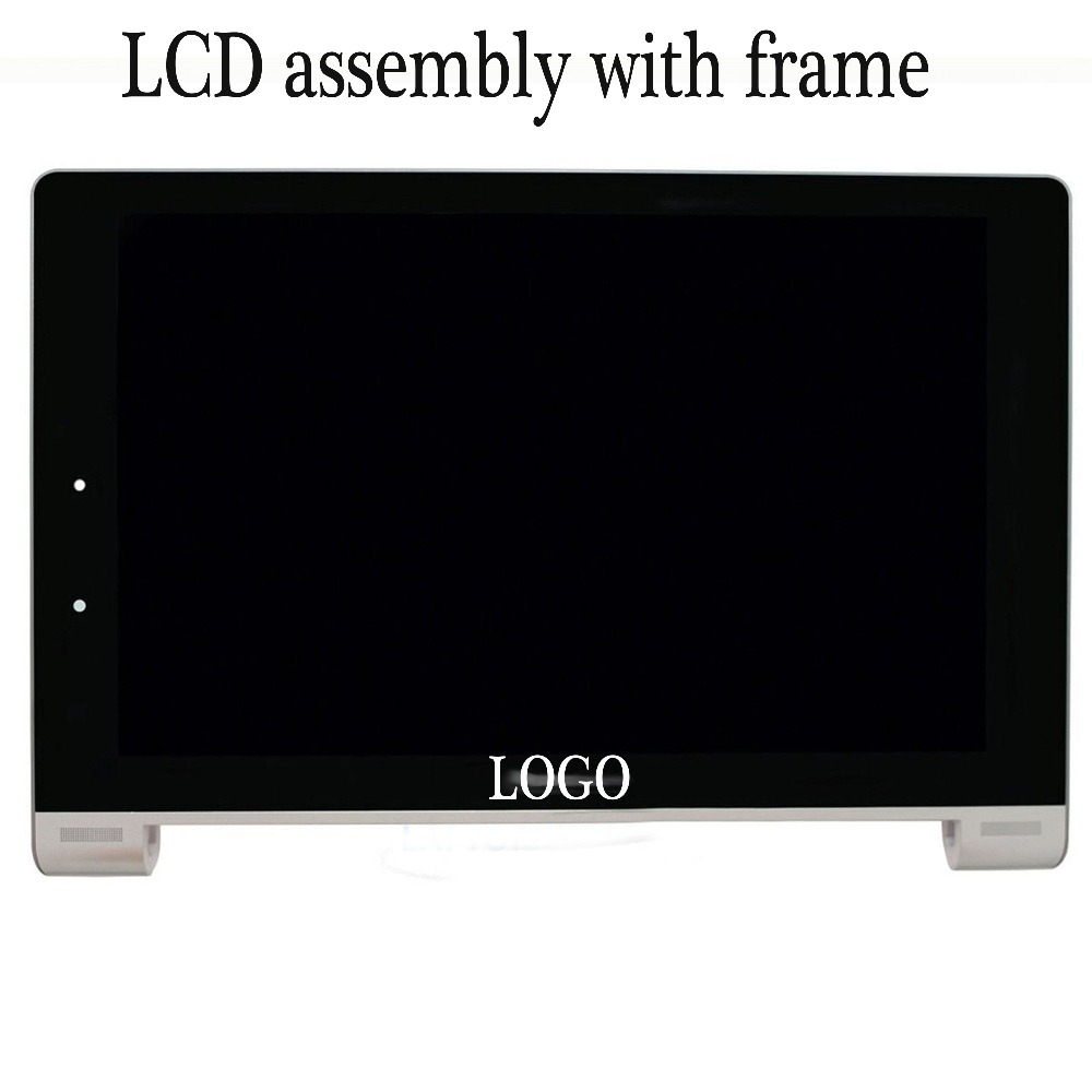 NEW LCD For Lenovo B8000 B8000-h 60046 Yoga Display Assembly With Frame Digitizer Touch Screen Tablet pc free shipping high quality silver for htc one m7 lcd display touch digitizer screen frame back door battery cover case housing