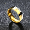 6mm Titanium Steel Mens Gold Silver Ring Wedding Engagement Band Mens Jewelry Free Shipping