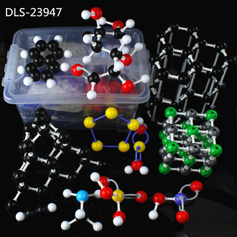 947pc Molecular Model DLS-23947 Large Set Inorganic / Organic Molecular Modeling Kit For University Chemistry Teacher With Box model of molecular structure of organic chemistry tube formula presentation using teacher presentation teaching aids set