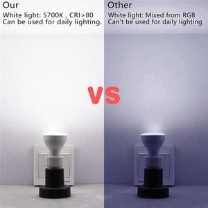 Image 4 - Dimmable RGB 220V LED Bulb 110V GU10 8W Lampada Led Lamp RGB Spotlight GU 10 Bombillas Led Light With Remote Control 16 Colors