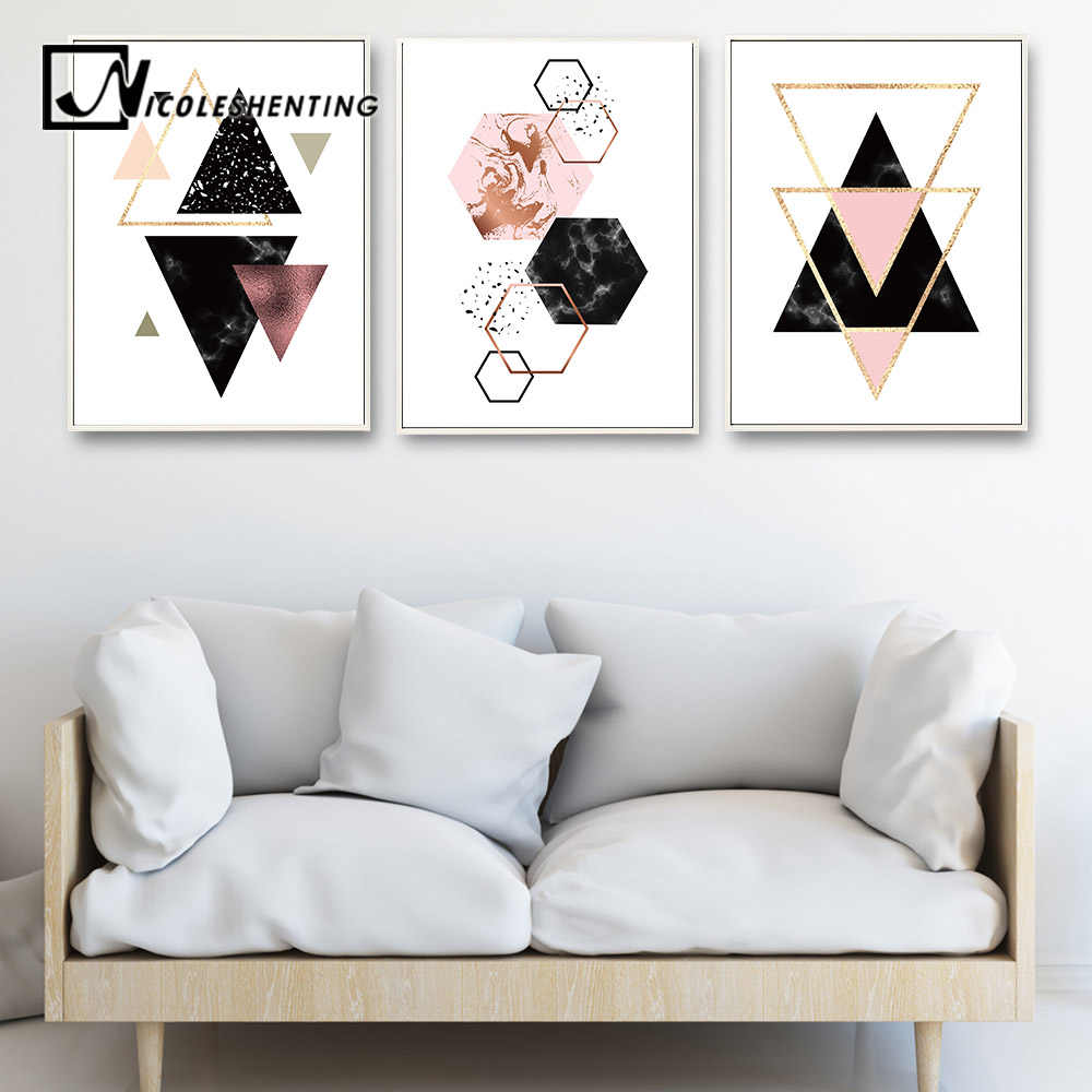 Geometry Abstract Wall Art Canvas Posters and Prints Minimalist Painting Decorative Picture for Living Room Modern Home Decor