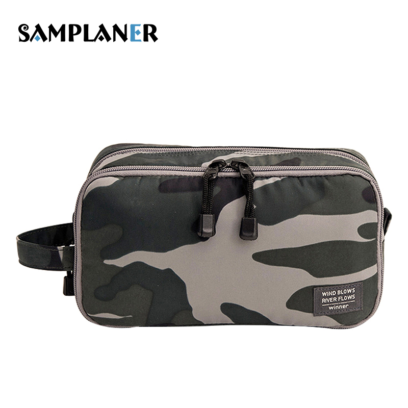 Samplaner Camouflage Cosmetic Bags Men Travel Toiletry Bag Shaving Kit Cosmetic Pouch Cases Women Cosmetics Bags For Make Up new arrival female zipper cosmetics bag large cosmetic bag women make up bags portable travel make up pouch