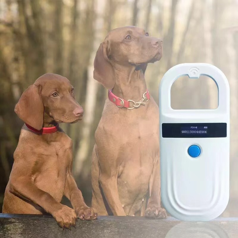 READELL 134.2 Khz FDX B Led Animal Chip Dog Reader Pet ID RFID Microchip Handheld Scanner|Control Card Readers| |  - title=