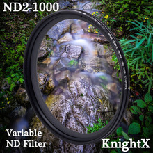 KnightX ND2 to ND1000 Neutral Density Fader Variable ND filter Adjustable For Canon Sony Nikon d5300 49 52 55 58 62 67 72 77 mm
