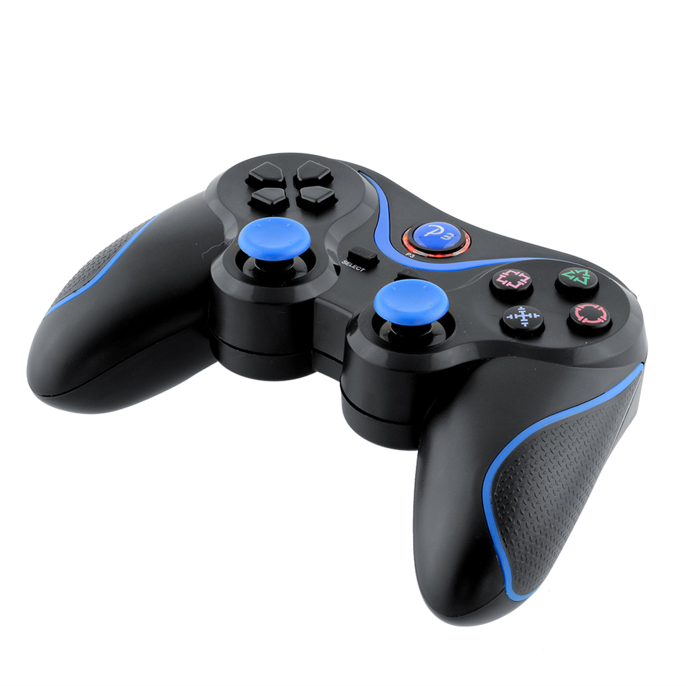 Wireless Game Bluetooth <font><b>Joystick</b></font> Controller For Sony PS3 Playstation 3 <font><b>laptop</b></font> Doubleshock Black Blue image