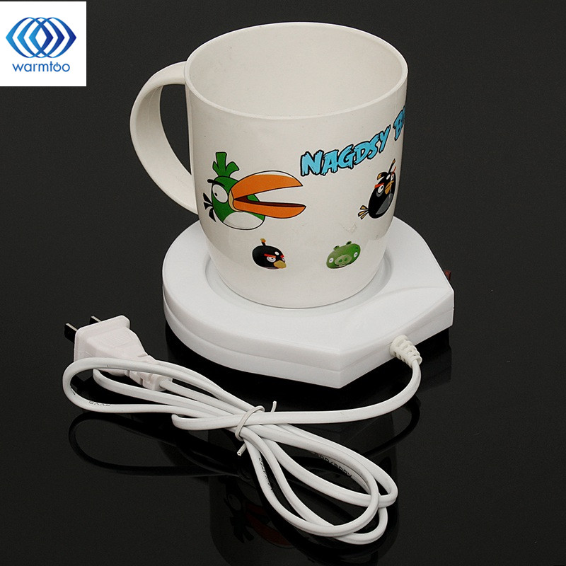 220v Electric Powered Cup Warmer Heater Pad Hot Plate Coffee Tea Milk Mug US Plug White Household Office portable electric heating coasters water heater desktop coffee milk tea warmer heater cup mug warming trays 5 colors office home