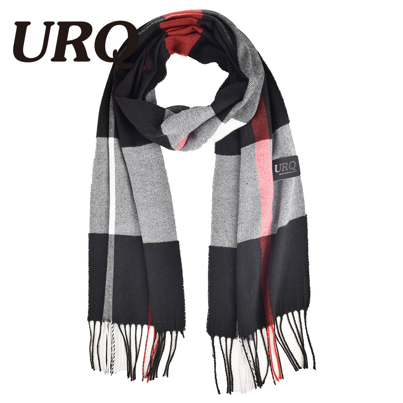 32*170cm New Style Sale Brand Luxury Womens Mans Check Striped Long Cashmere Wool Soft Warm Shawl Scarf A3A17741