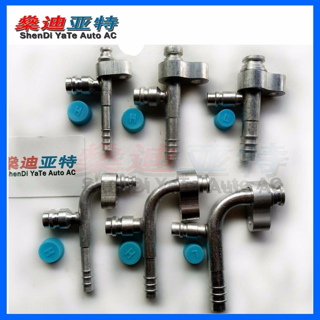 US $50 0  (30PCS) ShenDi YaTe Auto AC Automotive air conditioning hose  clamps with movable presses with R134a refrigerant valves-in Hoses & Clamps