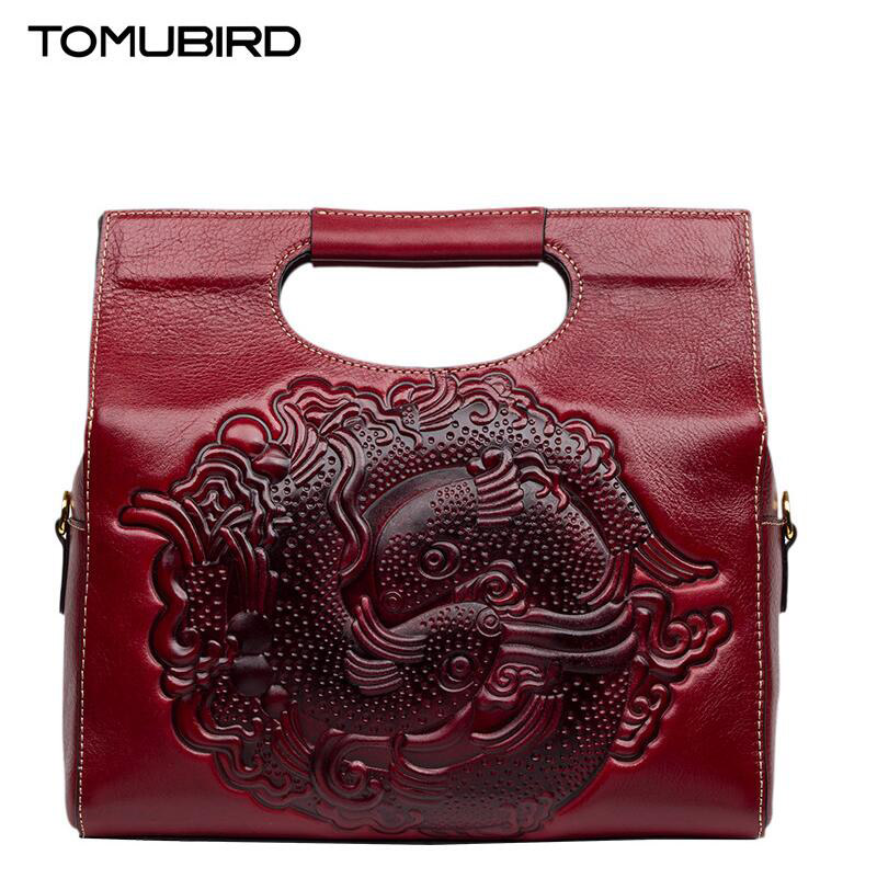 2017 New luxury handbags women bags designer quality national wind fashion embossing luxury women genuine leather handbags купить