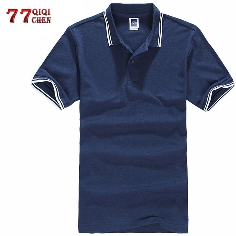 Plus Size 3XL   Polo   Shirt Men   Polos   Para Hombre Male Tops 2019 Striped   Polo   Shirts Casual Summer Shirt Cotton Solid Camisa   Polo