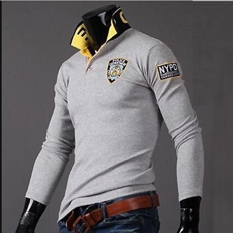 ZOGAA Spring Autumn Men   Polo   Shirt Casual Cotton Printed   Polo   Shirt Male Turn-down Collar Long Sleeve Slim Shirt Tops 2019 HOT
