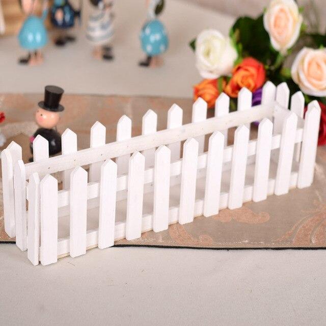 Us 226 2pcs Home Decoration Accessories 30cm Wooden Fence Flower Vase Wholesale White Color Fence For Home Decor Flowers Vase In Flower Pots