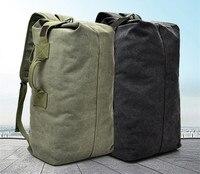 2019 Luggage Travel Large Army Bucket Bag Rucksack Man Mountaineering Bag Male Luggage Boys Canvas Shoulder Bags Men Backpacks