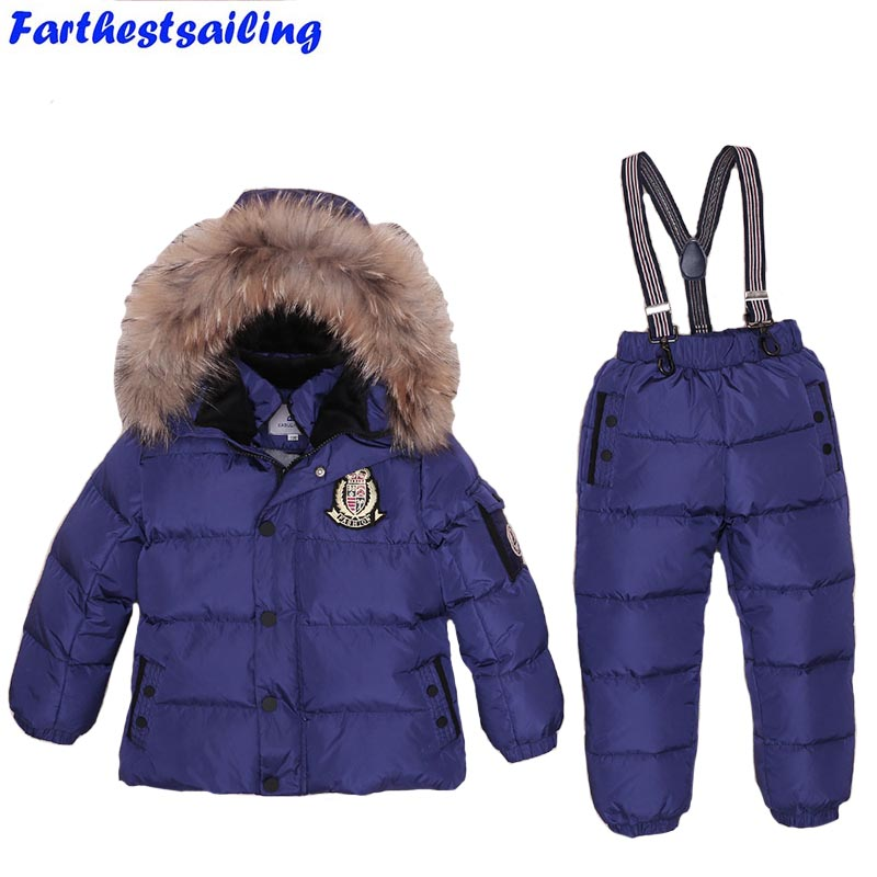 -30 Russian Winter Snowsuit Real Fur Children Clothing Set Down Boy Baby Outwear Waterproof Ski Suit Girls Jackets Kids Jumpsuit-30 Russian Winter Snowsuit Real Fur Children Clothing Set Down Boy Baby Outwear Waterproof Ski Suit Girls Jackets Kids Jumpsuit