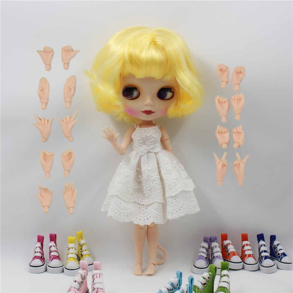 Free shipping factory blyth Nude doll Blyth Doll 130BL1200400 joint body Doll Yellow hair gift toy