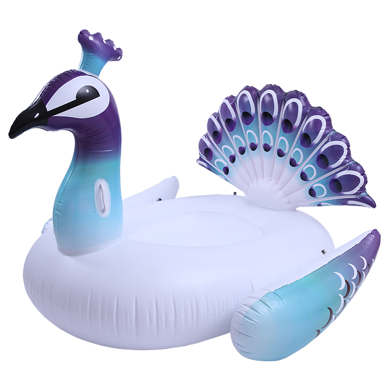 59 Inches Giant Peacock Float Inflatable Swimming Ring Circle Mattress Women Floating Island Pool Toys Piscina Boias Accessories