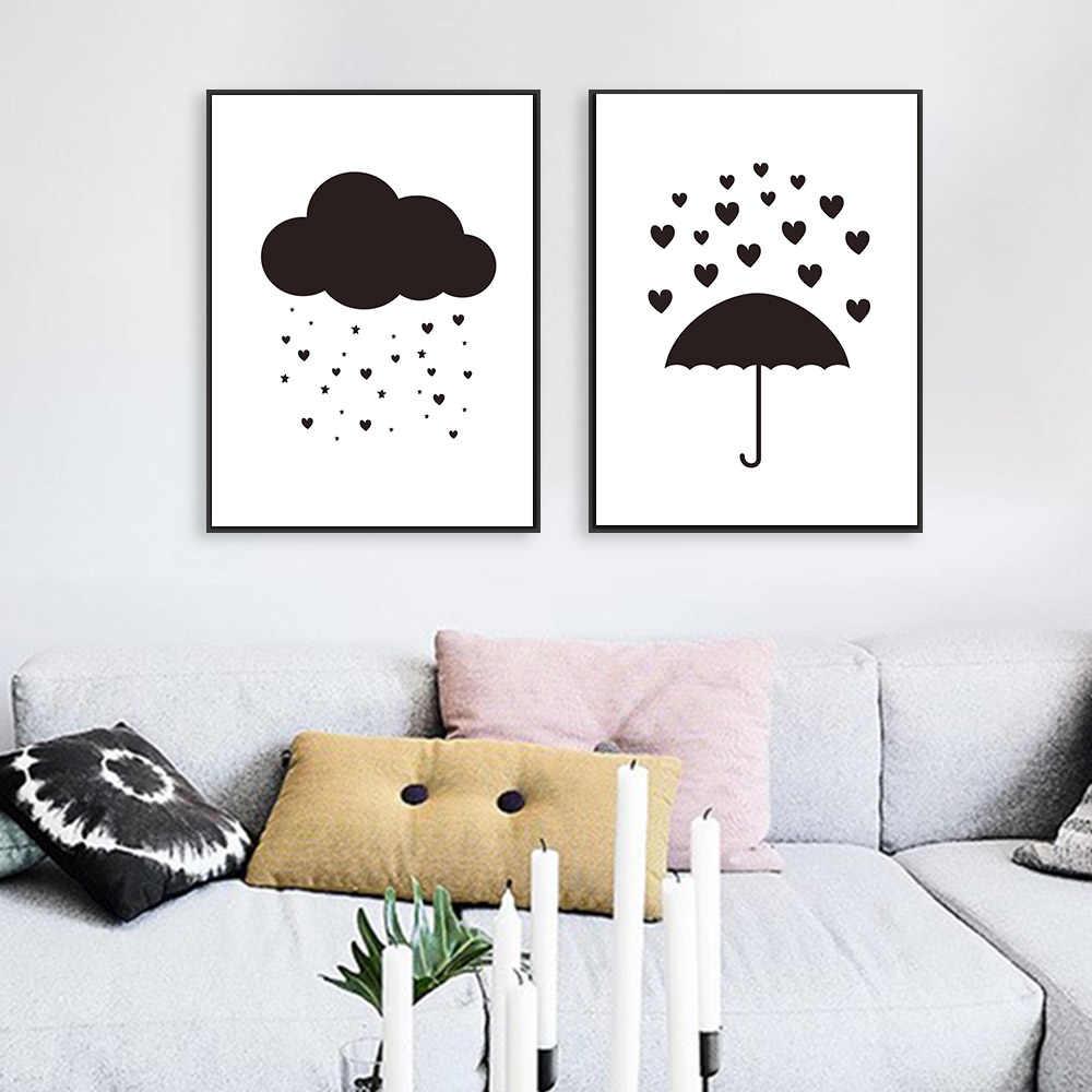 Art Black And White Nursery Wall