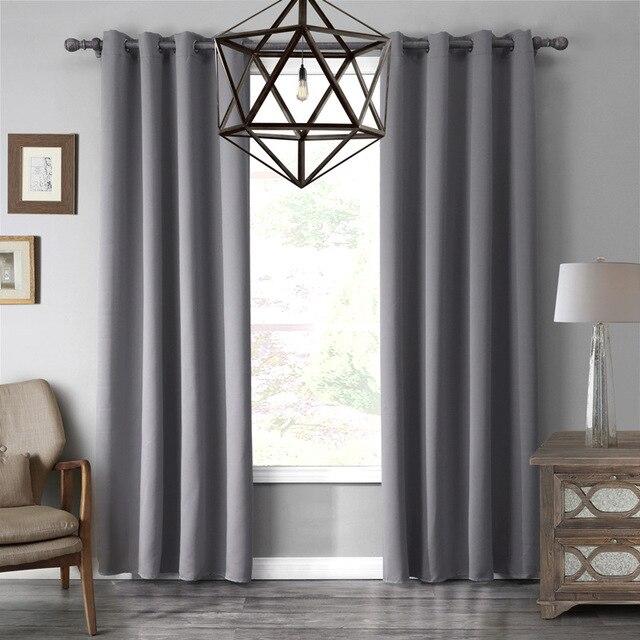 1 stück moderne 7 farbe verdunkelungsstoff grau/schwarz/braun ... - Wohnzimmer Grau Schwarz Braun