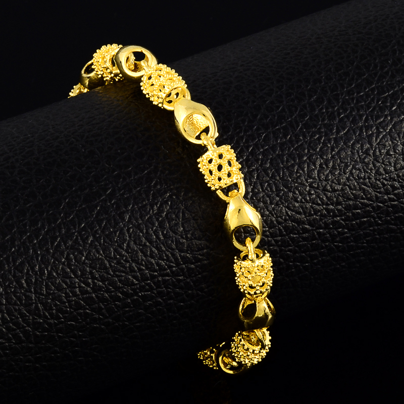 2017 New Arrival Gold Color Plated Stainless Steel Adjustable Lock Chain Link Metal Charm Bracelets & Bangles for Best Friends