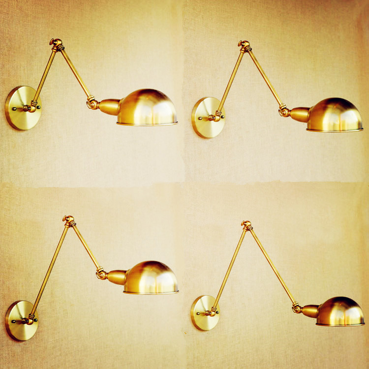 Adjustable Swing Long Arm Wall Light Vintage Home Lighting Loft Industrial Wall Lamp LED Wall <font><b>Sconce</b></font> Lampen Appliqued Murales