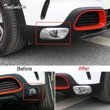 Tonlinker Cover Case Stickers for Citroen C5 aircross 2017-18 Car Styling 2 PCS ABS Chrome front fog light cover case sticker fit for citroen c5 aircross interior steering wheel moulding sequins abs chrome decoration cover 2pcs