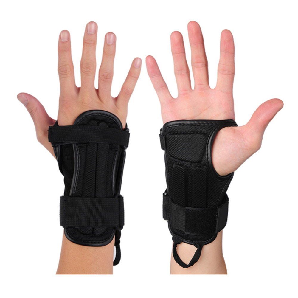 Motorcycle gloves palm protection - No Slip Motorcycle Bike Plate Movement Hand Palm Wrist Outdoor Sport Gloves Snowboard Skiing Skating Skateboard Wrist Protector
