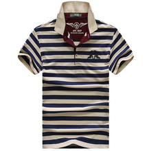 High quality brand men polo shirt new summer casual striped cotton mens  solid ralp