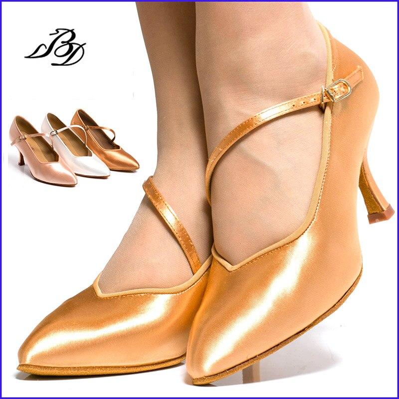 Women Shoes Sneakers Latin Dance shoes Soft Bottom Sports BD 138 Modern Jazz Ballroom import satin Feel fine Salse 5.5cm heel