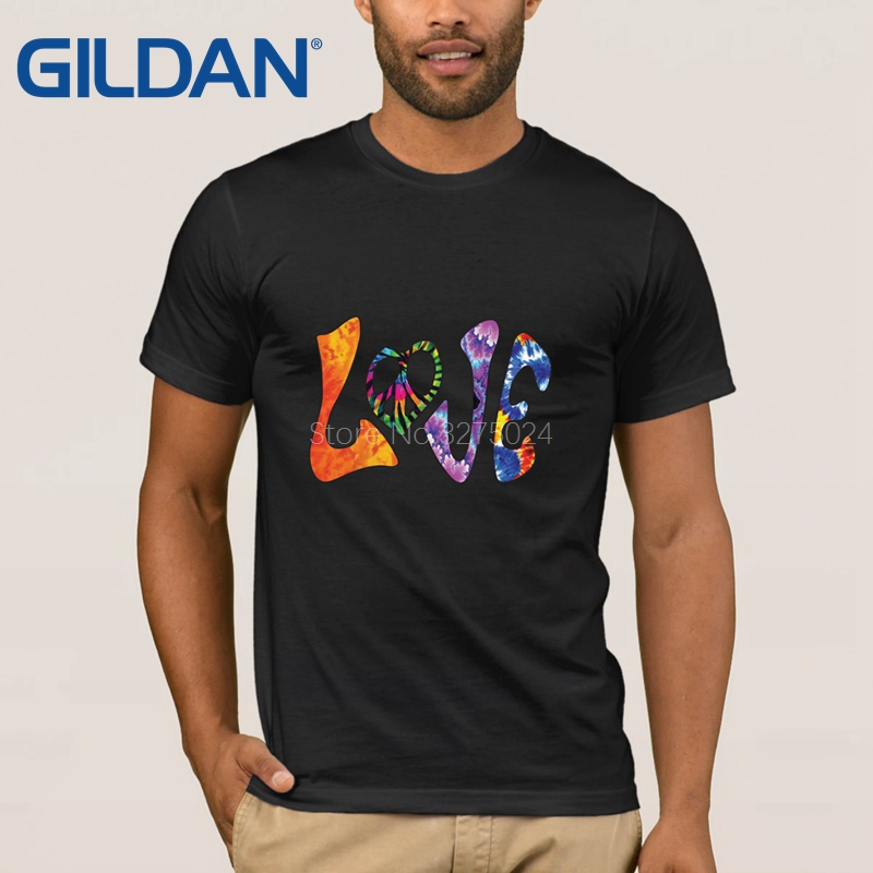 Creative Better Tie Dye T Shirt For Mens Hippie Love Tee Shirt For Men 2018 O Neck T-Shirt Man Outfit Top Quality