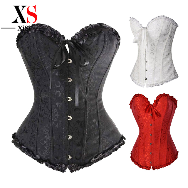0fa3df2a45 2018 hot sexy steampunk corset tops underbust plus corsets 6x waist trainer  corsets cheerleader halloween costumes for women