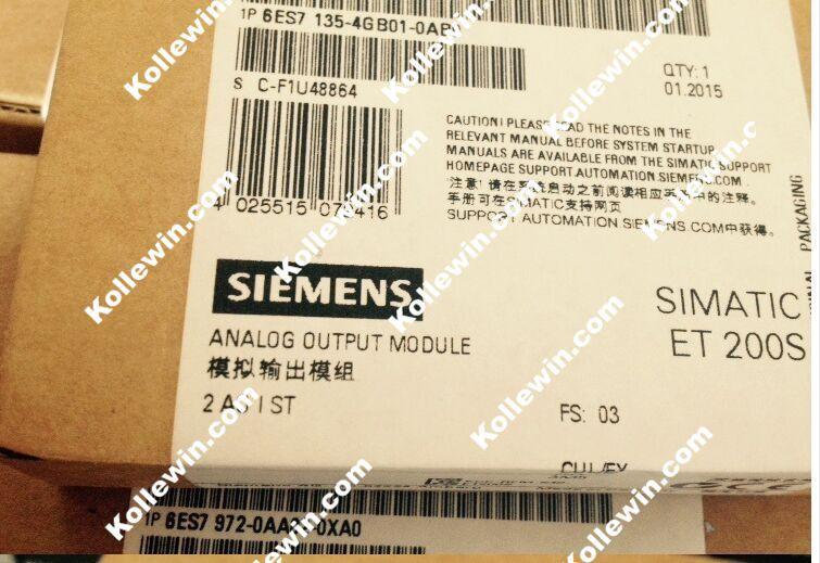 Original NEW SIMATIC 6ES7135-4GB01-0AB0 ET-200 Module,Analog Electronic Module 6ES7 135-4GB01-0AB0, Freeship 6ES71354GB010AB0